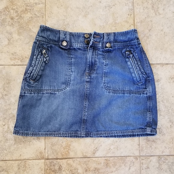 Sonoma Dresses & Skirts - Sonoma Good Condition Jean Mini Skirt Zippers